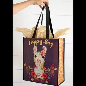 Recycled Reusable Llama Happy Gift Bag